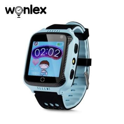 Ceas Smartwatch Pentru Copii Wonlex GW500s cu Functie Telefon, Localizare GPS, Camera, Lanterna, Pedometru, SOS – Albastru, Cartela SIM Cadou