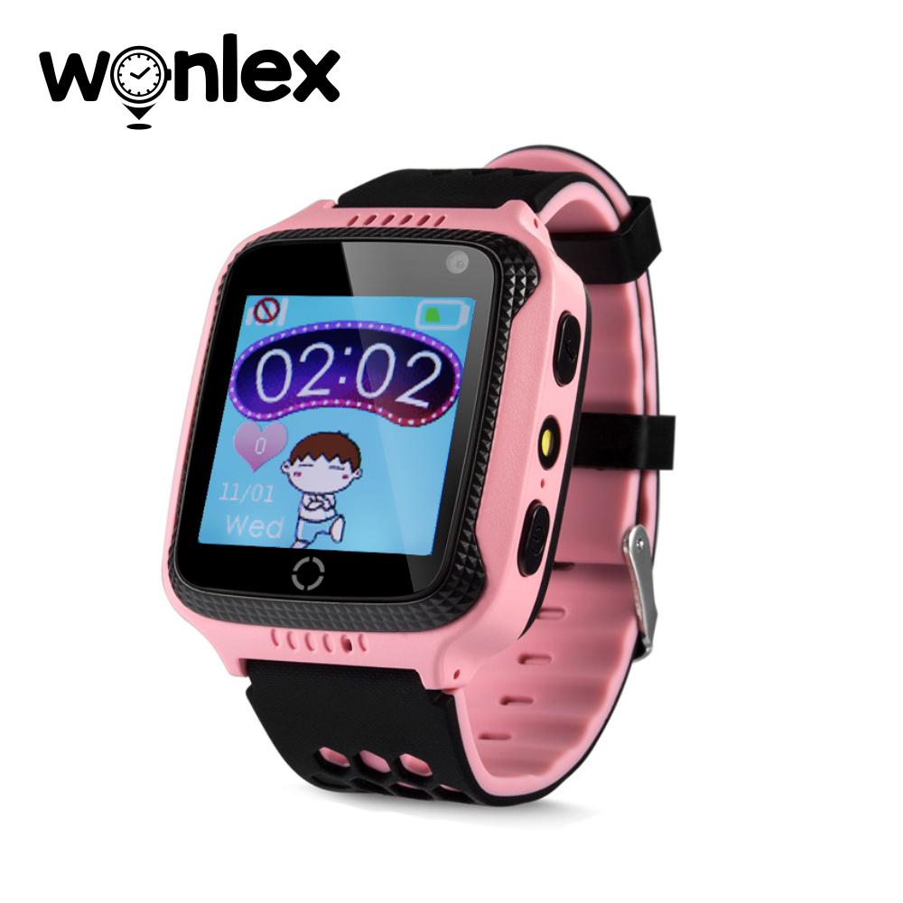 Ceas Smartwatch Pentru Copii Wonlex GW500s cu Functie Telefon, Localizare GPS, Camera, Lanterna, Pedometru, SOS – Roz, Cartela SIM Cadou imagine