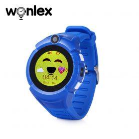 Ceas Smartwatch Pentru Copii Wonlex GW600-Q360 cu Functie Telefon, Localizare GPS, Camera, Lanterna, Pedometru, SOS – Albastru
