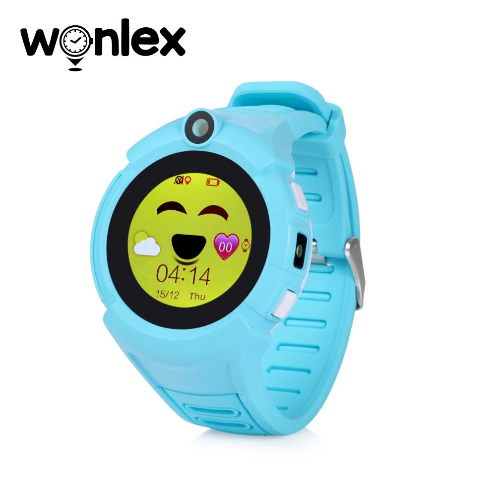 Ceas Smartwatch Pentru Copii Wonlex GW600-Q360 cu Functie Telefon, Localizare GPS, Camera, Lanterna, Pedometru, SOS – Bleu imagine