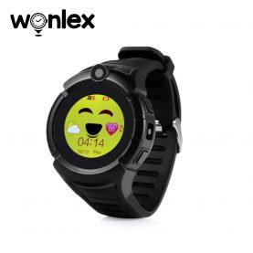 Ceas Smartwatch Pentru Copii Wonlex GW600-Q360 cu Functie Telefon, Localizare GPS, Camera, Lanterna, Pedometru, SOS – Negru