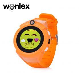 Ceas Smartwatch Pentru Copii Wonlex GW600-Q360 cu Functie Telefon, Localizare GPS, Camera, Lanterna, Pedometru, SOS – Portocaliu