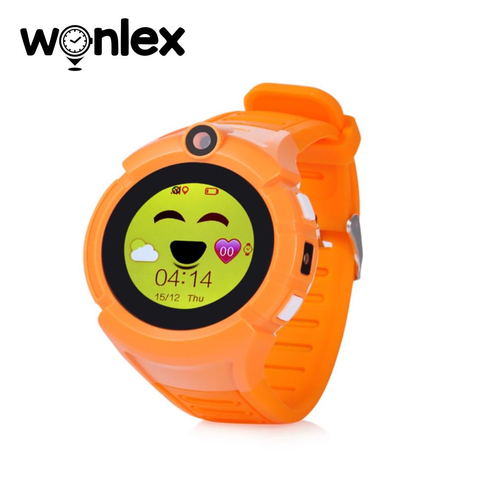 Ceas Smartwatch Pentru Copii Wonlex GW600-Q360 cu Functie Telefon, Localizare GPS, Camera, Lanterna, Pedometru, SOS – Portocaliu imagine