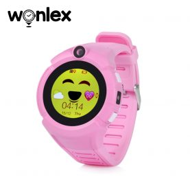 Ceas Smartwatch Pentru Copii Wonlex GW600-Q360 cu Functie Telefon, Localizare GPS, Camera, Lanterna, Pedometru, SOS – Roz