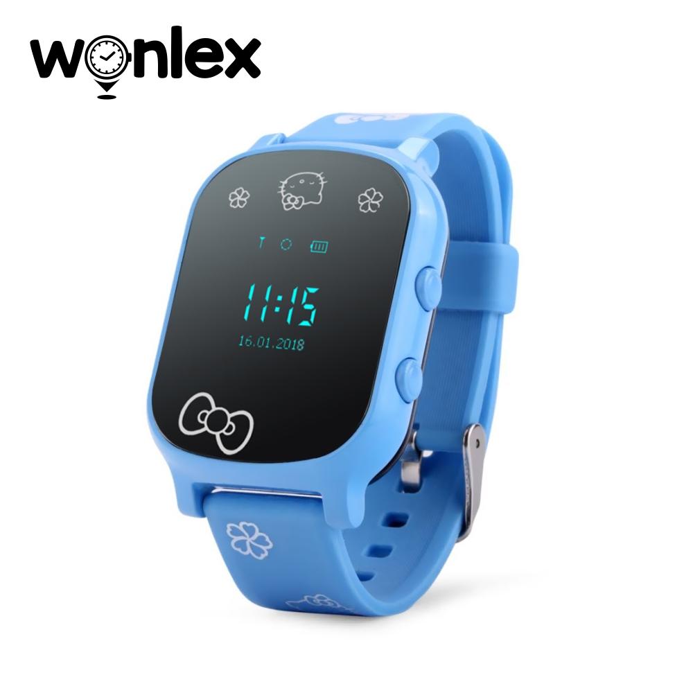 Ceas Smartwatch Pentru Copii Wonlex GW700-T58 cu Functie Telefon, Localizare GPS – Albastru, Cartela SIM Cadou imagine