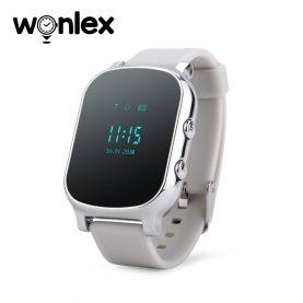 Ceas Smartwatch Pentru Copii Wonlex GW700-T58 cu Functie Telefon, Localizare GPS – Argintiu, Cartela SIM Cadou