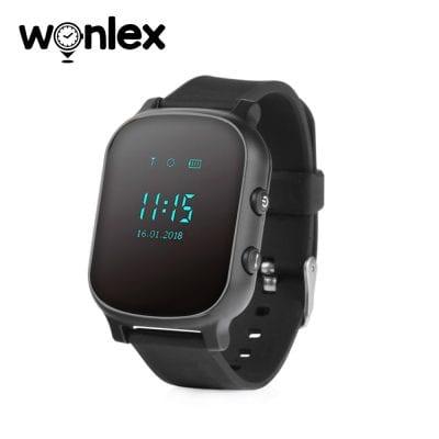 Ceas Smartwatch Pentru Copii Wonlex GW700-T58 cu Functie Telefon, Localizare GPS – Negru, Cartela SIM Cadou
