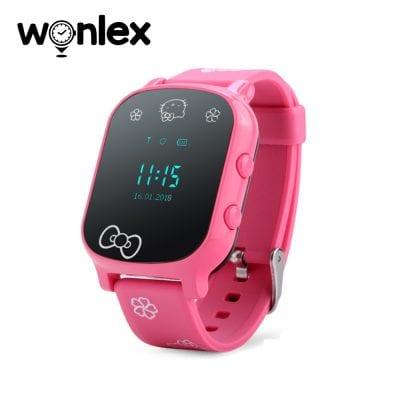 Ceas Smartwatch Pentru Copii Wonlex GW700-T58 cu Functie Telefon, Localizare GPS – Roz, Cartela SIM Cadou