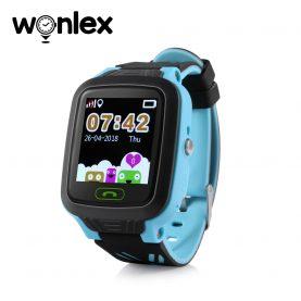 Ceas Smartwatch Pentru Copii Wonlex GW800 cu Functie Telefon, Localizare GPS, Pedometru, SOS, IP67 – Albastru