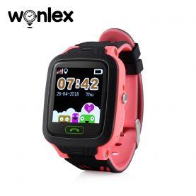Ceas Smartwatch Pentru Copii Wonlex GW800 cu Functie Telefon, Localizare GPS, Pedometru, SOS, IP54 – Rosu