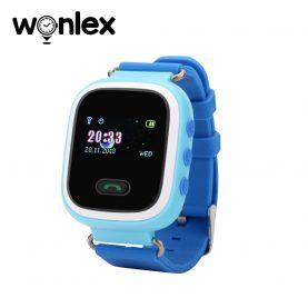 Ceas Smartwatch Pentru Copii Wonlex GW900S cu Functie Telefon, Localizare GPS, Pedometru, SOS – Albastru, Cartela SIM Cadou