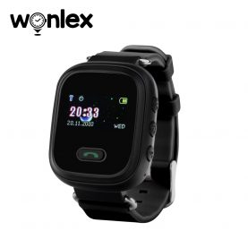 Ceas Smartwatch Pentru Copii Wonlex GW900S cu Functie Telefon, Localizare GPS, Pedometru, SOS – Negru