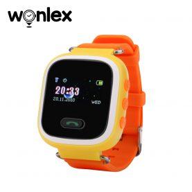 Ceas Smartwatch Pentru Copii Wonlex GW900S cu Functie Telefon, Localizare GPS, Pedometru, SOS – Portocaliu, Cartela SIM Cadou