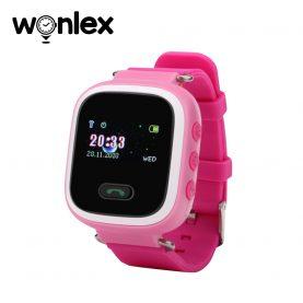 Ceas Smartwatch Pentru Copii Wonlex GW900S cu Functie Telefon, Localizare GPS, Pedometru, SOS – Roz