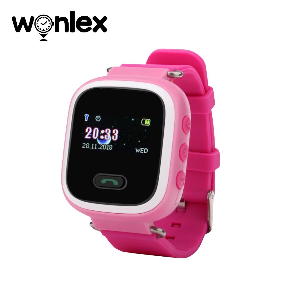 Ceas Smartwatch Pentru Copii Wonlex GW900S cu Functie Telefon, Localizare GPS, Pedometru, SOS – Roz, Cartela SIM Cadou imagine