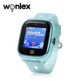 Ceas Smartwatch Pentru Copii Wonlex KT01 cu Functie Telefon, Localizare GPS, Camera, Pedometru, SOS, IP54 – Turcoaz, Cartela SIM Cadou