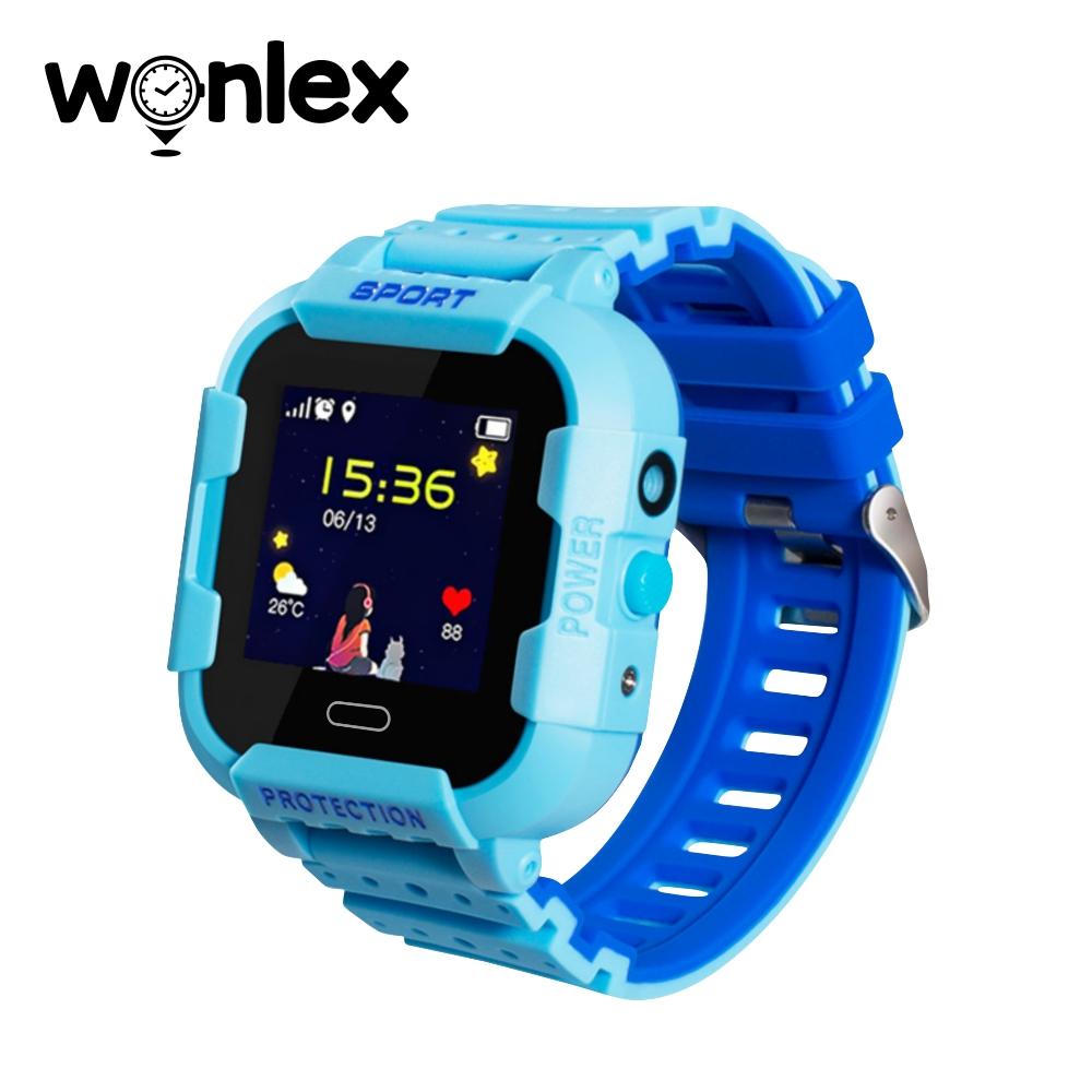 Ceas Smartwatch Pentru Copii Wonlex KT03 cu Functie Telefon, Localizare GPS, Camera, Pedometru, SOS, IP54 – Albastru, Cartela SIM Cadou imagine