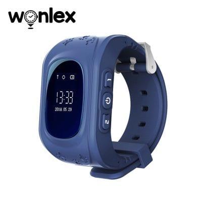Ceas Smartwatch Pentru Copii Wonlex Q50 cu Functie Telefon, Localizare GPS, Pedometru, SOS – Albastru, Cartela SIM Cadou