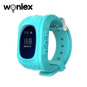 Ceas Smartwatch Pentru Copii Wonlex Q50 cu Functie Telefon, Localizare GPS, Pedometru, SOS – Turcoaz, Cartela SIM Cadou