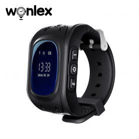 Ceas Smartwatch Pentru Copii Wonlex Q50 cu Functie Telefon, Localizare GPS, Pedometru, SOS – Negru, Cartela SIM Cadou