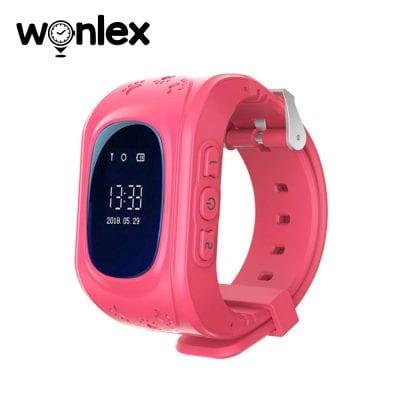 Ceas Smartwatch Pentru Copii Wonlex Q50 cu Functie Telefon, Localizare GPS, Pedometru, SOS – Roz, Cartela SIM Cadou
