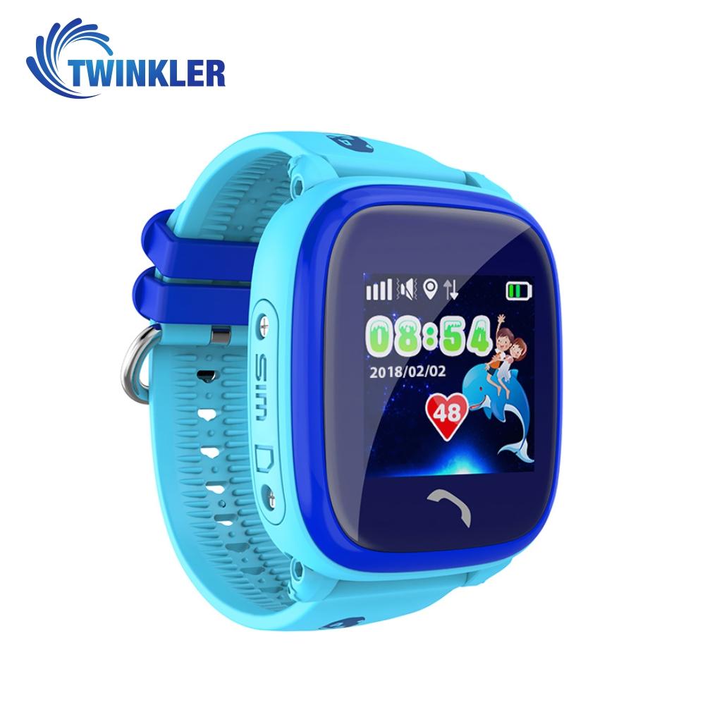 Ceas Smartwatch Pentru Copii Twinkler TKY-DF25 cu Functie Telefon, Localizare GPS, Pedometru, SOS, IP54 – Albastru, Cartela SIM Cadou imagine