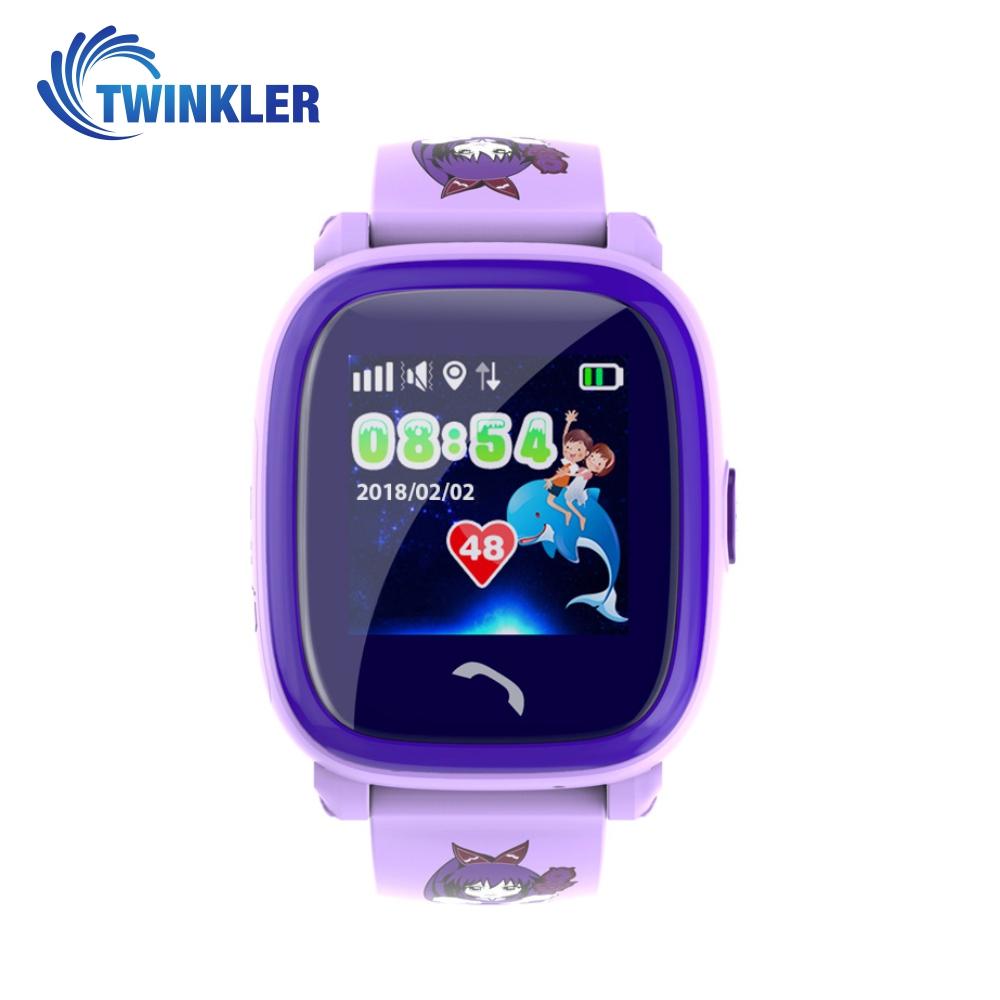 Ceas Smartwatch Pentru Copii Twinkler TKY-DF25 cu Functie Telefon, Localizare GPS, Pedometru, SOS, IP54 – Mov, Cartela SIM Cadou imagine