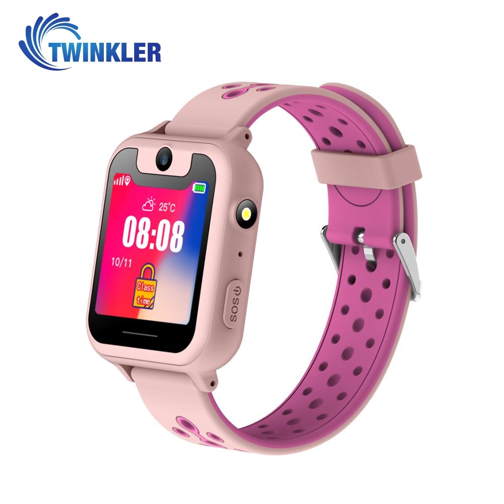 Ceas Smartwatch Pentru Copii Twinkler TKY-S6 cu Functie Telefon, Localizare GPS, Camera, Lanterna, Pedometru, SOS, Joc Matematic – Roz Pal, Cartela SIM Cadou imagine