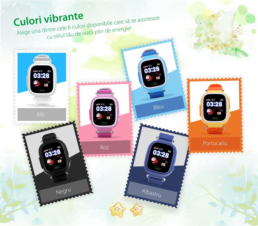 Ceas Smartwatch Pentru Copii Wonlex GW100 cu Functie Telefon, Localizare GPS, Pedometru, SOS – Bleu, Cartela SIM Cadou