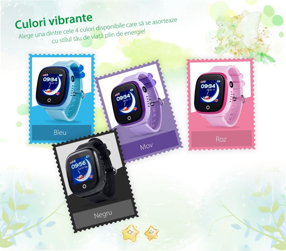 Ceas Smartwatch Pentru Copii Wonlex GW400X WiFi cu Functie Telefon, Localizare GPS, Camera, Pedometru, SOS, IP54 – Roz, Cartela SIM Cadou