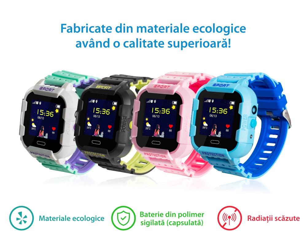 Ceas Smartwatch Pentru Copii Xkids X20 cu Functie Telefon, Localizare GPS, Apel monitorizare, Camera, Pedometru, SOS, IP54, Incarcare magnetica, Albastru, Cartela SIM Cadou, Meniu engleza