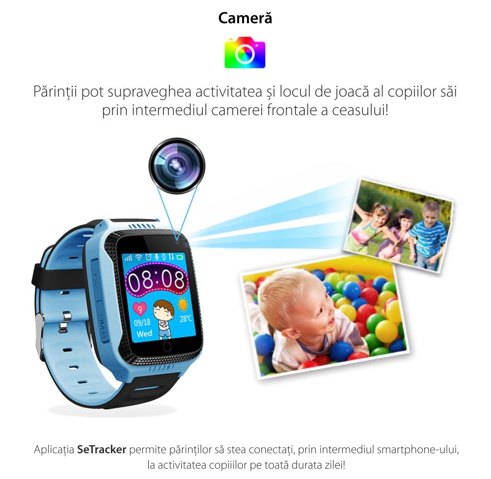 Ceas Smartwatch Pentru Copii Twinkler TKY-Q529 cu Functie Telefon, Localizare GPS, Camera, Pedometru, SOS – Roz, Cartela SIM Cadou