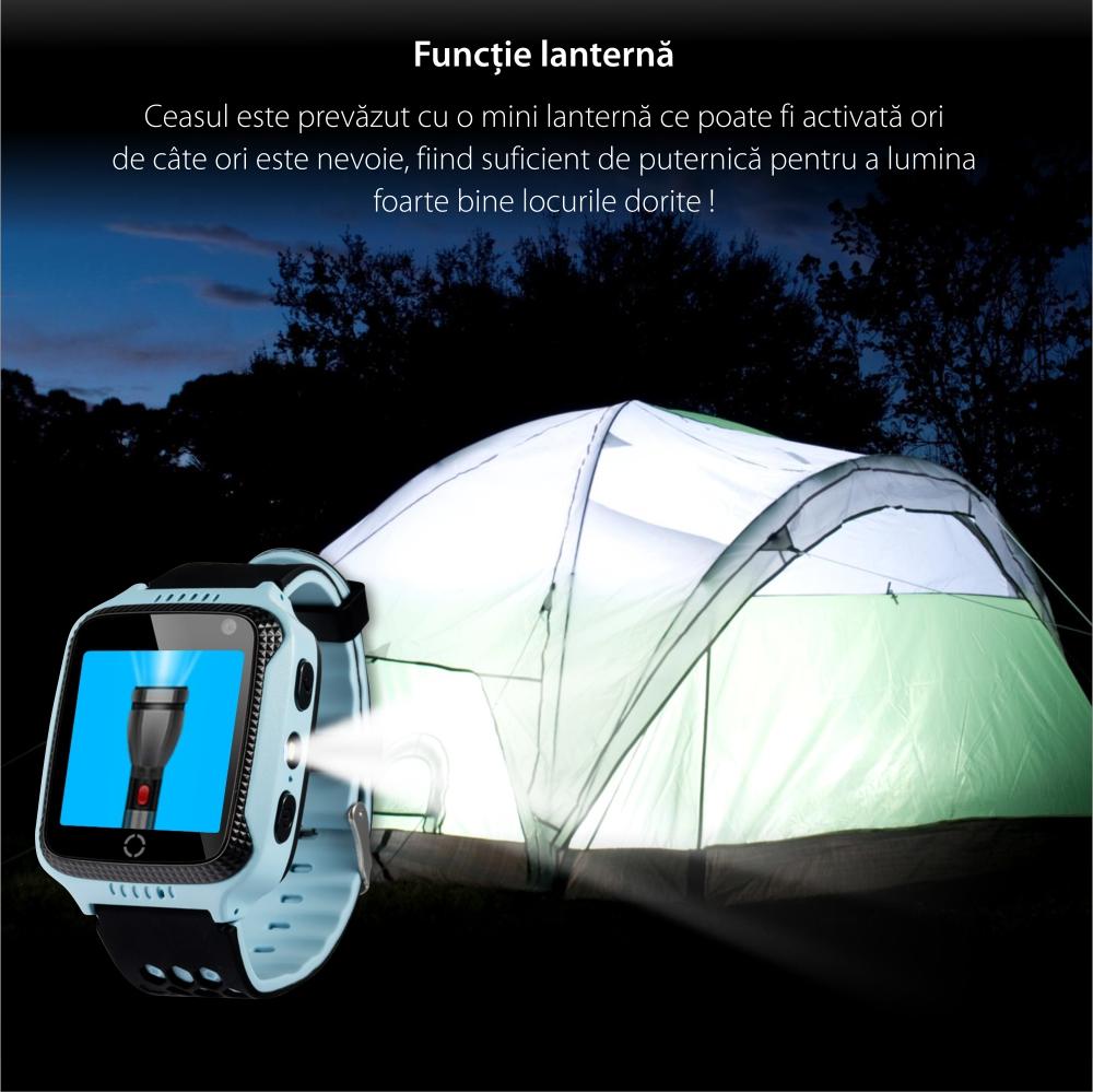 Ceas Smartwatch Pentru Copii Wonlex GW500s cu Functie Telefon, Localizare GPS, Camera, Lanterna, Pedometru, SOS – Roz, Cartela SIM Cadou