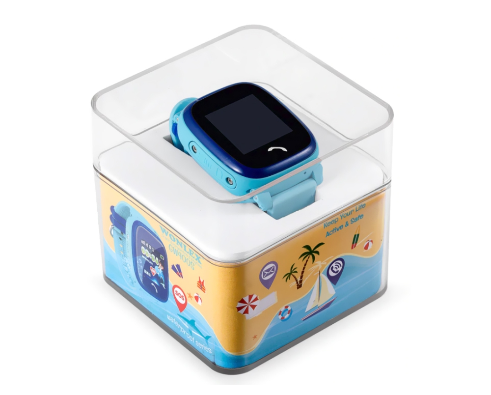 Ceas Smartwatch Pentru Copii Wonlex GW400S WiFi cu Functie Telefon, Localizare GPS, Pedometru, SOS, IP54 – Negru, Cartela SIM Cadou