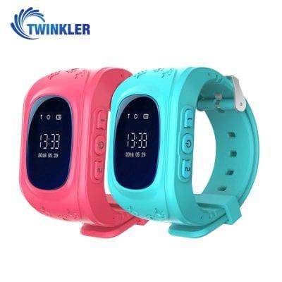 Pachet Promotional 2 Smartwatch-uri Pentru Copii Twinkler TKY-Q50 cu Functie Telefon, Localizare GPS, Pedometru, SOS – Roz + Turcoaz, Cartela SIM Cadou