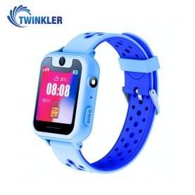 Ceas Smartwatch Pentru Copii Twinkler TKY-S6 cu Functie Telefon, Localizare GPS, Camera, Lanterna, Pedometru, SOS, Joc Matematic – Albastru, Cartela SIM Cadou