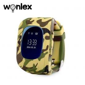 Ceas Smartwatch Pentru Copii Wonlex Q50 cu Functie Telefon, Localizare GPS – Camuflaj Galben, Cartela SIM Cadou