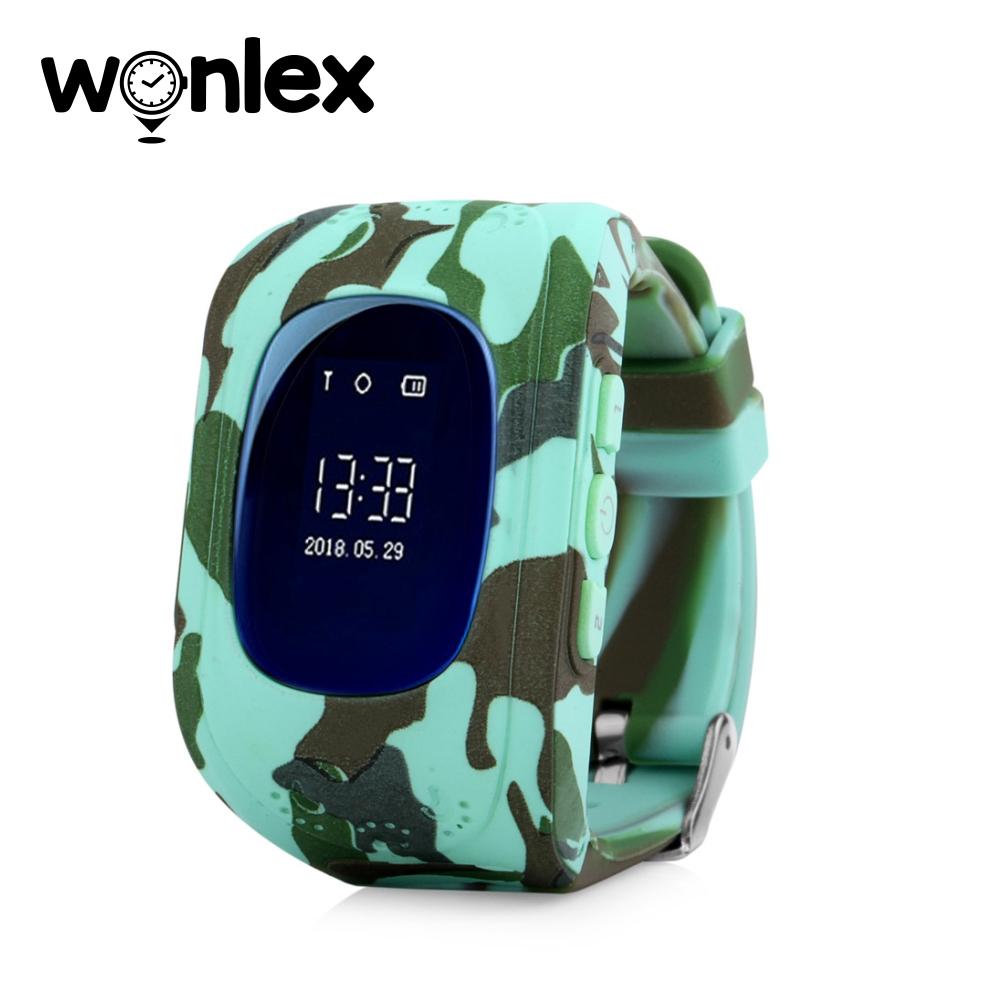 Ceas Smartwatch Pentru Copii Wonlex Q50 cu Functie Telefon, Localizare GPS – Camuflaj Verde, Cartela SIM Cadou imagine