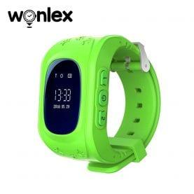 Ceas Smartwatch Pentru Copii Wonlex Q50 cu Functie Telefon, Localizare GPS, Pedometru, SOS – Verde, Cartela SIM Cadou