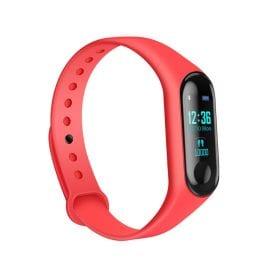 Bratara fitness inteligenta M3 cu masurarea tensiunii arteriale, Ritm cardiac, Notificari, Pedometru, Bluetooth, IP67 – Rosie