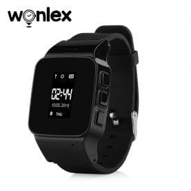 Ceas Smartwatch Pentru Adulti / Varstnici Wonlex EW100 cu Functie Telefon, Localizare GPS, Pedometru, SOS – Negru, Cartela SIM Cadou