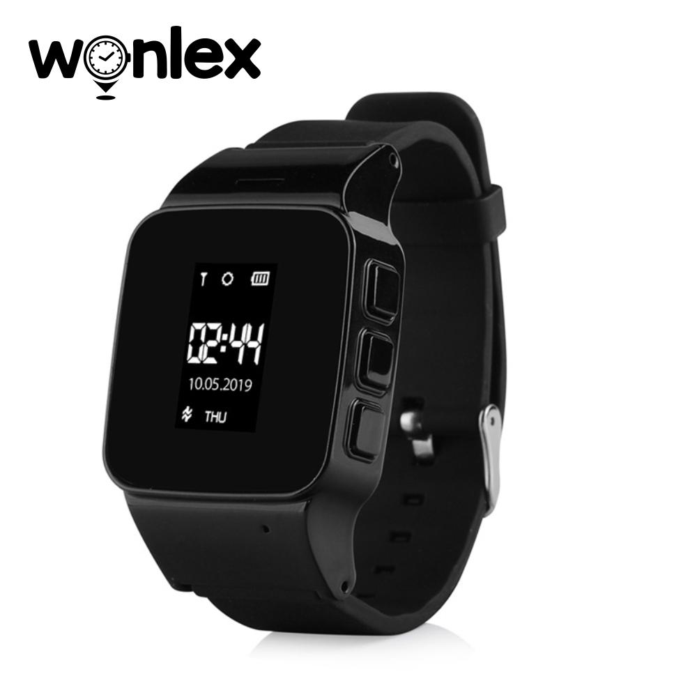 Ceas Smartwatch Pentru Adulti / Varstnici Wonlex EW100 cu Functie Telefon, Localizare GPS, SOS – Negru, Cartela SIM Cadou imagine