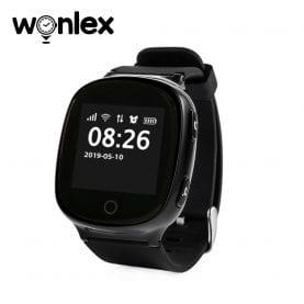 Ceas Smartwatch Pentru Adulti / Varstnici Wonlex EW100S cu Functie Telefon, Senzor puls, Localizare GPS, Pedometru – Negru