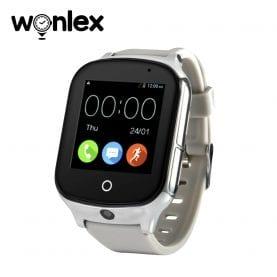 Ceas Smartwatch Wonlex GW1000S cu Functie Telefon, Localizare GPS, Camera, 3G, Pedometru, SOS, Android – Argintiu, Cartela SIM Cadou