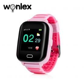 Ceas Smartwatch Pentru Copii Wonlex KT02 cu Functie Telefon, GPS, 3G, Camera, IP54, Android – Roz, Cartela SIM Cadou