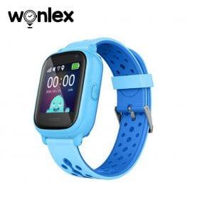 Ceas Smartwatch Pentru Copii Wonlex KT04 cu Functie Telefon, GPS, Camera, IP54 – Albastru, Cartela SIM Cadou