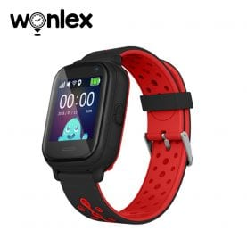 Ceas Smartwatch Pentru Copii Wonlex KT04 cu Functie Telefon, GPS, Camera, IP54 – Negru, Cartela SIM Cadou