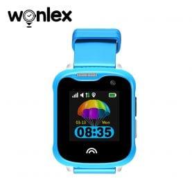 Ceas Smartwatch Pentru Copii Wonlex KT05 cu Functie Telefon, GPS, Camera, IP54 – Albastru, Cartela SIM Cadou