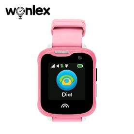 Ceas Smartwatch Pentru Copii Wonlex KT05 cu Functie Telefon, GPS, Camera, IP54 – Roz, Cartela SIM Cadou