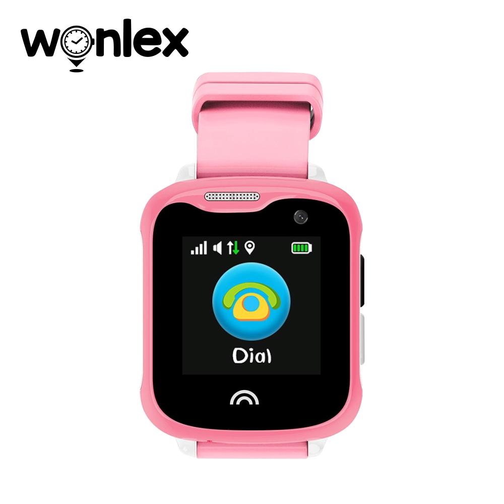 Ceas Smartwatch Pentru Copii Wonlex KT05 cu Functie Telefon, GPS, Camera, IP54 – Roz, Cartela SIM Cadou imagine